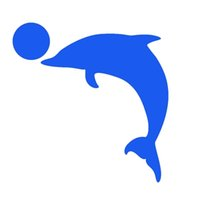Wholesale Marine Glue - Wholesale 10pcs lot Marine Animals To Head The Ball Dolphin Leap for The Performing Art Car Sticker for Kayak Canoe Reflective Vinyl Decal