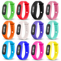 Wholesale lcd run step pedometer - Digital LCD Pedometer Run Step Walking Distance Calorie Counter Watch Bracelet