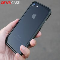 Wholesale Iphone Alloy Bumper - DEVILCASE Type One Bumper For iPhone 7 7Plus Fashion Aluminum Alloy Metallic Frame For iPhone7 7+