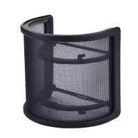 mikrofon filtreleri toptan satış-Çift Katmanlı Kayıt Stüdyosu Mikrofon Mic Cam Pop Filtre Maskesi Kalkanı