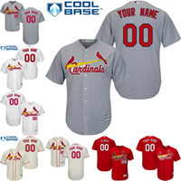 Wholesale Custom Blank Jerseys - Free Shipping ! Custom Men's St. Louis Cardinals Blank Baseball Jerseys Stitched Any Name And Number For Sale