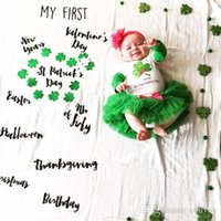 Wholesale Newborn Easter Props - 2017 newborn photography background blanket baby photo prop fabric backdrops easter infant blankets wrap soft letter ins cloth mat BHB10