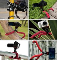Wholesale Mini Flexible Clip - Universal Octopus Sponge Flexible MINI Tripod Camera Holder Mount Clip For Canon Stand Mount For Iphone 7 6S 5 Plus Gorrila Tripods