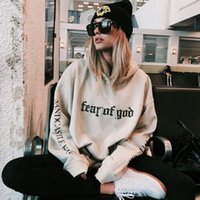 Wholesale Long Coat Sweaters 3xl - Fear Of God Printed Hoodie Sweatshirt Men Women Oversized Pullover Hoodies Sweater Long Sleeve Hooded Fleece Hoodie Coat S-3XL YYF1118