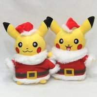 Wholesale new style baby games resale online - New Style Pikachu Plush Toys Santa Claus Christmas Gift for Children cm Kawaii Toys Pikachu Stuffed Plush Doll Baby Kids Toy