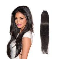 mejores extensiones de cabello remy de cinta al por mayor-Extensiones de cinta más vendidas 20Pcs Extensiones de cabello de trama de piel de cabello humano brasileño 16-24 pulgadas de cinta en cabello humano
