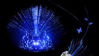 barra de luz de la corona al por mayor-Decoraciones para el día de los niños Mariposa de fibra óptica varita Corona Diadema fiesta de baile barra colorido cambiante palos de luz