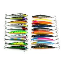 Wholesale Vmc Hooks - 20Pcs lot Mixed 2Style Fishing Lures Set Minnow Fishing Wobblers Artificial Lure Baits Wtih Vmc Treble Hooks Fishing Tackle