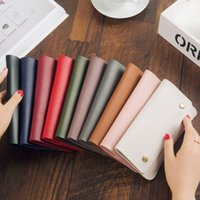 Wholesale Envelope Card Wallet Purse - Hot Sale 2017 Fashion Candy Color Ladies Wallets PU Leather Credit Card Tote Envelope Clutch Bags For Women Wallet Purse Coin bag Pouch