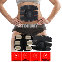 Wholesale Abs Wireless - New Smart Wireless Electric Massager abdominal training Device Electrotherapy Back Pain Relief ABS Fit Muscle Stimulator