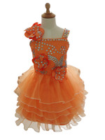 Wholesale christening gifts for girls for sale - 2019 New Flower Girl Dress Children Kids Girl s Pageant Evening Prom Communion Dress Gown for Birthday Wedding Bridal Gift Party