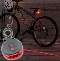 Wholesale 2Laser Bicycle Light Flash Mode Cycle Safety Backlight Waterproof LED Laser Tail Light Warning Light Blinking Lights Laser