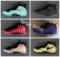 Wholesale Cheap Penny - Air Pro Island Green Tech Fleece Black Gold Penny Hardaway Mens basketball shoes sneakers Cheap One Metallic Red Copper Eggplant basket ball