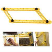 Wholesale Ruler Tool - Multifunctional Angle izer Template Tool Plastic Measuring Four Sided Ruler Accurate Measurement Tool For Handmen c244