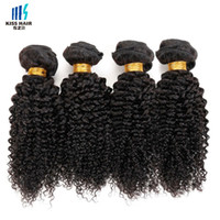 Wholesale Short Afro Kinky Curl - Afro Kinky Curly Hair 4 Bundle Deals Tight Curl Brazilian Kinky Curly Virgin Hair Extensions Short Bob Curly Human Hair Weave