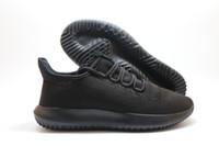 Wholesale flat cardboard - Wholesale 2017 Mens Womens Originals Tubular Shadow Knit Core Black White Cardboard Sneakers Running Shoes 350 boost 3D Sneakers 5-11
