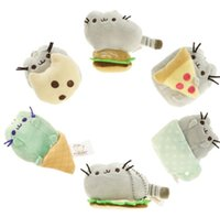 Wholesale Christmas Cookies Designs - Kawaii Pusheen Cat Sushi Angel Cookie Chips Donut Stuffed Plush Christmas Toy for Girls 7.5cm Plush Pendant 6 design KKA2701