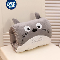 Wholesale Totoro Hand Warmers - Wholesale-Cartoon Totoro warm winter hand warmer pillow warm hand plush toys Girls Valentine's Day gift