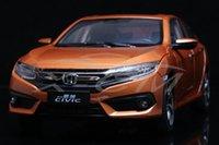 Wholesale Honda Diecast - Special offer original Diecast Car Model Metal Honda Civic 10th Generation 1:18 Scale (Orange) + SMALL GIFT!!!!!!!!!!!!!
