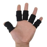 Wholesale Volleyball Wrist Support - Free Shipping Sports Safety Finger Protector Breathable Elastic Armful Knitted Fitness Finger Basketball and Volleyball Finger Sleeves