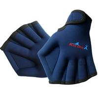 Wholesale neoprene handles - Swimming Gloves Neoprene Sports Glove For Dive Fishing Sailing Swim Hand Pu Diving Material Handle Water Training Accessories 14jz F1