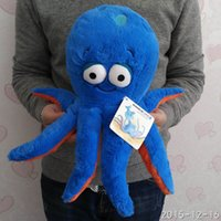 Wholesale Octopus Plush Toy - Free Shipping 30cm=11.8'' Original 3D eyes Blue Octopus doll Stuffed animal soft plush toys for baby gift