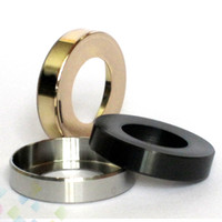 Wholesale metal threaded adapters for sale - Group buy Atomizer Decorative Ring Protection Ring Metal Adapter RDA Adaptor Bottom Attached thread Connector for Protective Mods DHL Free