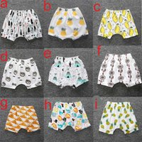 Wholesale Panda Embroidered - 16 colors Ins New Baby toddler boys girls ins pants Leggings Bee Panda Zoo embroidered Sabrina pant Cropped Trousers boys Harem Shorts