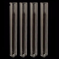 Wholesale 1mm Tube - 4Pcs lot 20x150mm Clear Borosilicate Glass Test Tube Glass Wall Thickness 1mm for Laboratory School Educational Supplies