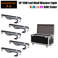 Wholesale Channel Wheels - 5IN1 Flight Case with Wheels Packing 18x15 Watt 6 Color Waterproof Led Wall Washer Light Hugh Size High Output 6 10 Channels