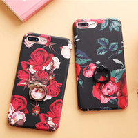 Wholesale Phone Cases Prices - 20pc Retro Big Peony Ring Phone Case for iphone 7 case And iphone 7 plus Case All-inclusive Wholesale price