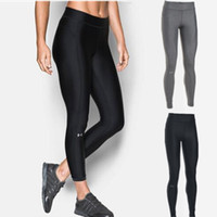 Wholesale Girls Sexy Tights - UA Women Leggings Yoga pants Tights Sportswear sports fitness gym running sexy pants Trouses quick dry Leggings free shipping