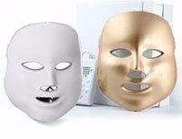 Wholesale Skin Firming Face Mask - LED Face Mask LED Photon Facial Mask Wrinkle Acne Removal Face Skin Rejuvenation Facial Massage Beauty Spa Device 3 7 Colors