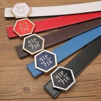 Wholesale Men Casual Belts Best Brands - Hot Brand Belt Men Best Quality Genuine Leather PP belt 9 color Designer Cowhide Belt with big buckle For Men Women Luxury Belts