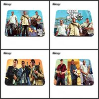 Wholesale auto mats rubber - Grand theft auto 5 beach weather computer game pad mouse custom non-slip rubber mat your computer mouse pad decoration