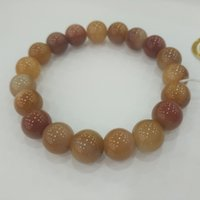 Wholesale Brown Jade Bracelet - Jinsha Jade shine brown bracelet, gracious lady style bracelet, beaded strand made for gift, 2017 asian style bracelet