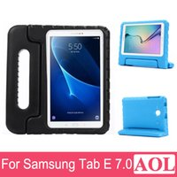 Wholesale Kid Cover For Galaxy - For 7.0 Samsung Galaxy Tab E T113   Tab 3 Lite T110 Kids EVA foam drop resistance protective stand holder back Cover Case