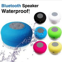 Wholesale Bluetooth Speakers Blue Box - Waterproof Bluetooth Speaker Mini Speakers Portable Subwoofer Shower Music Sucker Wireless Speaker Receiver Handsfree Car Mini Stereo