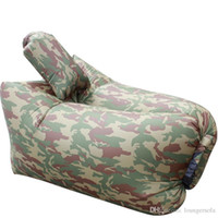 Wholesale deck pads - Bed Pad Portable Foldable Outdoors Indoor Inflation Chair Sleeping Pillow Office Deck Chairs Lounger Sofa Nflatable Air Sleepings Bag 65jt C