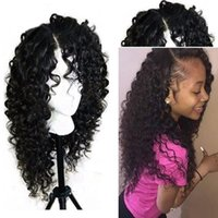 Wholesale Freetress Hair - Freetress Front Lace Wigs Sintetica Lacefront Wigs With Baby Hair Kinky Curly Synthetic Lace Front Wigs For Black Women