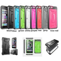 Wholesale blue green beetle - Unicorn Beetle PRO Series Supcase Robot Case Heavy Duty Rugged TPU PC protective cover for iphone 8 7 6 6S 5S plus samsung Galaxy S6 S7