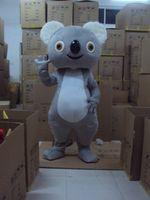 Wholesale Mascot Animal Costume Koala - Koala Costume Grey Animal Koala Mascot Costume Fancy Dress Halloween Party Xmas Hallowmas Mascots Free shipping