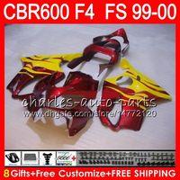 Wholesale 99 honda cbr f4 fairings for sale - Group buy 8Gifts Color Bodywork For HONDA CBR F4 CBR600FS FS yellow flames NO34 CBR600 F4 CBR F4 CBR600F4 Fairing Kit