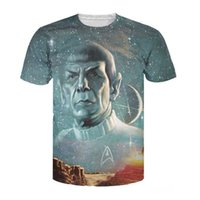 Wholesale Galaxy Stars Shirt - Wholesale- 2017 Summer Style tops Live Long and Prosper T-Shirt Star Trek Spock galaxy tee sexy t shirt for women men plus size