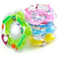 bebek yüzme yüzüğü yüzme tüpü toptan satış-Yüzme Havuzu Aksesuarları bebek Dişli yüzme yüzmek boyun halkası bebek Tüp Halka Güvenlik infantfloat daire banyo Şişme Bırak