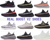 Wholesale Socks Mix - Factory Real Boost 350 Boost V2 Shoes Beluga Grey Orange Mix 10 Colors With Box Keychain Socks Kanye West Running Shoes Size 36-48