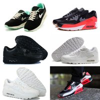 Wholesale Shoes Mans Air 87 - 2017 new classic 90 87 91 92 93 97 98 Men and women Running Shoes Black Red White Sports Air Sports Shoes 36-46