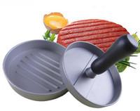 hamburger presleri toptan satış-Pişirme araçları Hamburger Börekler Maker Burger Hamburger Presi Et Basın Tencere Mutfak Yemek Bar Aracı