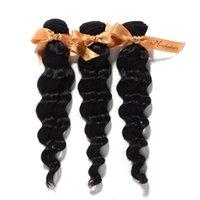 "Wholesale Brazilian Hair Mixed Length 3pcs - Mix Length:12""-26"" ,3pcs lot,Brazilian Virgin Remy Natural Hair Weft,Loose Wave,Natural Color DHL Shipping"