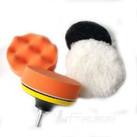 Wholesale 6 in Car Polish Wax Set Sponge Wheel A pair Wool Ball Sanding Pad Connecting Rod Drill become Polisher